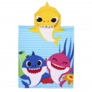 BABY SHARK - poncho polyester applications, 50x115