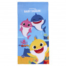 BABY SHARK - towel polyester, 70 x 140 cm, blue