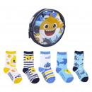 BABY SHARK - pack de 5 calcetines, multicolor