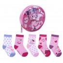 Peppa Pig - paquete de calcetines 5 piezas`` multi
