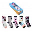 MINNIE - socks pack 5 pieces, multicolor