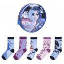grossiste Vetement et accessoires: frozen II - pack de chaussettes 5 pièces`` multico