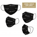 FRIENDS - hygienic mask reusable approved, black
