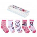 mayorista Artículos con licencia: Minnie - paquete de calcetines 5 piezas`` multicol
