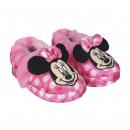 mayorista Artículos con licencia: Minnie - Zapatillas de casa francesita, rosa.