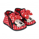 wholesale Licensed Products: MINNIE - house slippers half boot, red