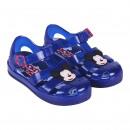 Mickey - sandalias playa transparente, azul