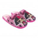 LOL - zapatillas de casa abiertas, rosa