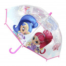 SHIMMER AND SHINE - umbrella poe manual, sky blue