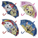 PAW PATROL - umbrella manual, rainbow