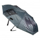 wholesale Umbrellas: BATMAN - umbrella folding manual, 53 cm, grey