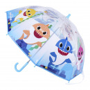BABY SHARK - umbrella poe manual, 45 cm, blue