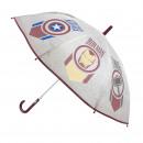 Avengers - paraguas eva automático, 48 cm, gris