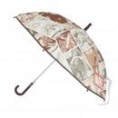 MARVEL - paraguas automático eva, 48 cm, gris