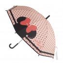 Minnie - paraguas eva automático, 48 cm, rosa