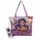 mayorista Otros bolsos: DC SUPERHERO GIRLS - bolso de playa lila