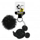 wholesale Licensed Products: MICKEY - key chain acrilico pom pom, black