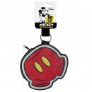 Mickey - Schlüsselanhänger mit Geldbörse, rot