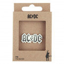 ACDC - pin metal, silver