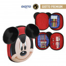 wholesale School Supplies: MICKEY - filled pencil case triple 3d, red