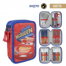 wholesale Licensed Products: CARS 3 - filled pencil case triple giotto, red