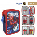 SPIDERMAN - filled pencil case triple giotto, navy