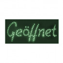 LED Sign Open; green