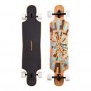 hurtownia Akcesoria sportowe & fitness: Longboard Twin Tip  DT Dusza Flex 2 brązowe / niebi