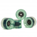 wholesale Sports and Fitness Equipment: Wheel Set 78A /  70x50mm; ABEC 7; transparent green
