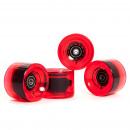 mayorista Deporte y ocio: Juego de ruedas  78A / 70x50mm; ABEC 7; rojo transp