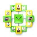 Großhandel Bilder & Rahmen: Bilderahmenuhr grün/hellgrün