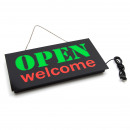 LED Sign Open Welcome