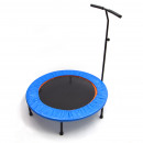 Fitness trampoline with grab handle