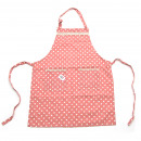 wholesale Kitchen Utensils: Universal apron  pink / white polka dots