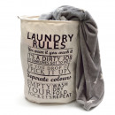 wholesale Laundry: Laundry bag H 50 x  Ø 40 cm - Laundry Rules, Brown