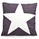 wholesale Home & Living: Sofa cushion  anthracite with  white star, 45 x ...
