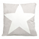 wholesale Home & Living: Sofa cushion gray  with white star, 45 x 45 cm