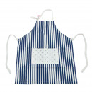 wholesale Kitchen Utensils: Apron Antje - Blue  / White Striped 79.5 x 58.5 cm