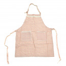 wholesale Kitchen Utensils: Apron Lotte - Red  / White Checked 79.5 x 58.5 cm