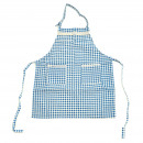 wholesale Kitchen Utensils: Apron Ulla - Blue  / White Checked 79.5 x 58.5 cm
