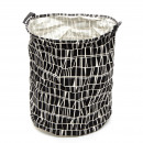 wholesale Laundry: Laundry bag H 50 x  Ø 40 cm Kyoto - Black / White