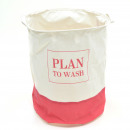 wholesale Houshold & Kitchen: Laundry bag H 50 x  Ø 40 cm Plan to wash - White /
