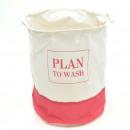 groothandel Wasgoed: Waszak H 50 x Ø 40  cm Plan te wassen - Wit / roze
