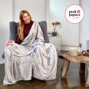 groothandel Home & Living: Super zachte  deken, 220 x 240 cm, grijs