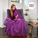 groothandel Home & Living: Super zachte  deken, 200 x 150 cm, paars