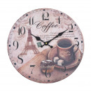 Wall Clock - Coffee, Ø: 34 cm