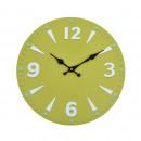 Großhandel Uhren & Wecker: Wanduhr - Greeny, Ø: 34 cm