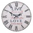 grossiste Horloges & Reveils:Clock Live Laugh Love