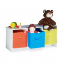 Großhandel Kindermöbel: Kindersitzbank mit Stauraum ALBUS