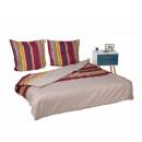 Großhandel Bettwäsche & Matratzen: Bettwäsche  Streifen 200x200cm+80x80cm
